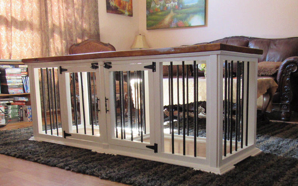 how to turn your cot into a dog kennel